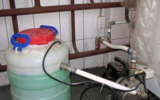 Как закачать антифриз в систему отопления
