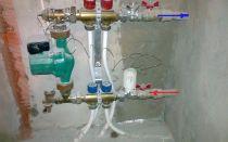 Монтаж водяного теплого пола без смесительного узла