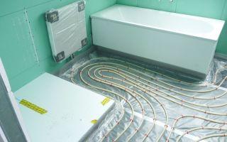 Установка водяного теплого пола в ванной