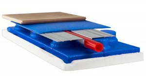 Система монтажа теплого пола на полистирольные плиты без стяжки