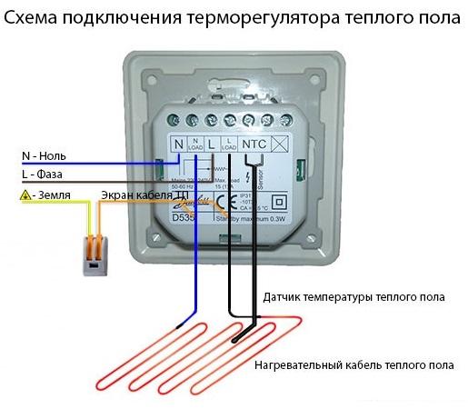 Схема подключения пленочного теплого пола фото 563