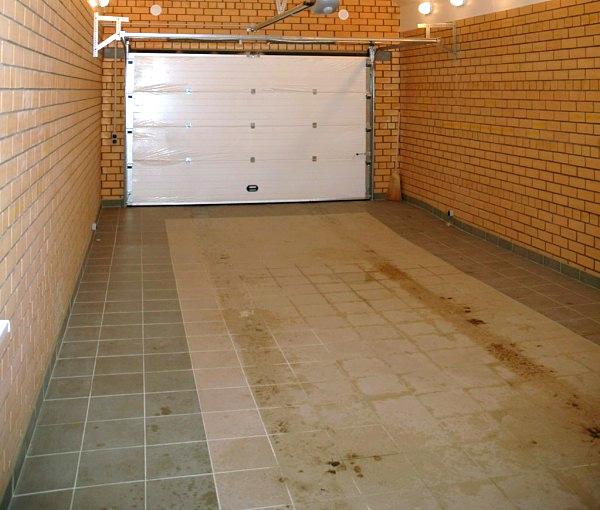 Электрический теплый пол в гараже под плитку