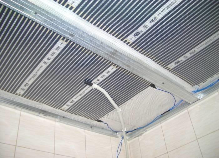 Инфракрасное пленочное потолочное отопление