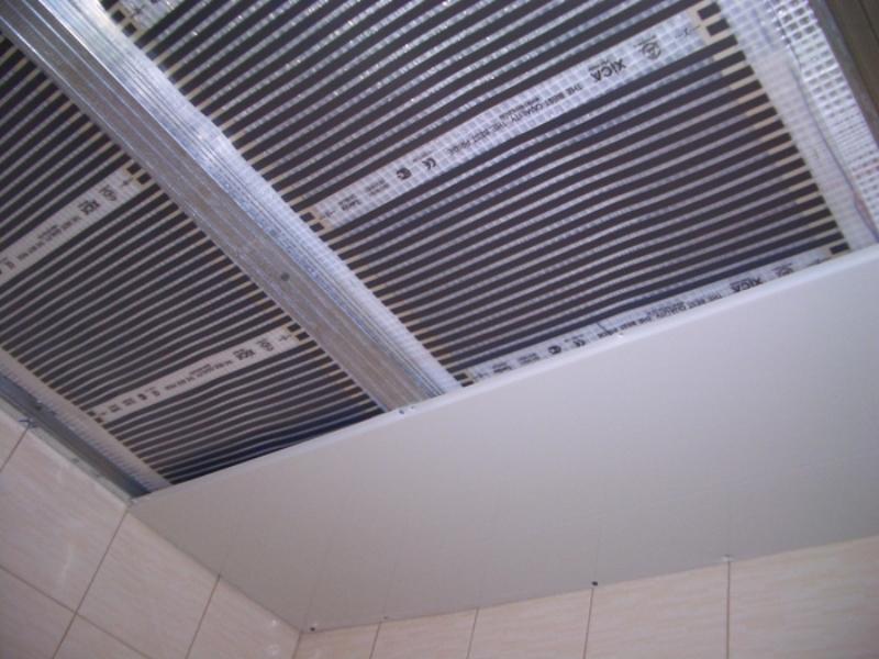 Монтаж инфракрасной пленки на потолок