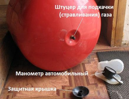 Как проверить давление в расширительном бачке отопления