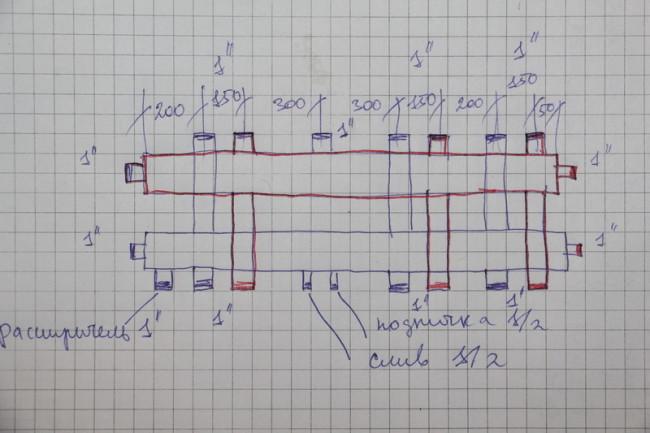 Как рассчитать диаметр гребенки отопления