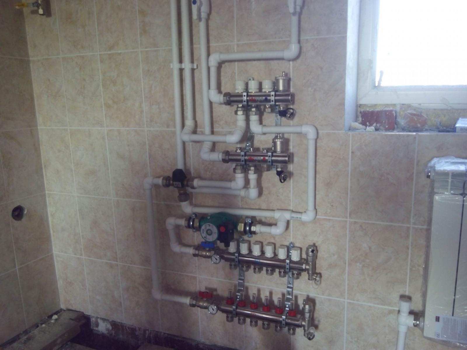Монтаж системы отопления с принудительной циркуляцией