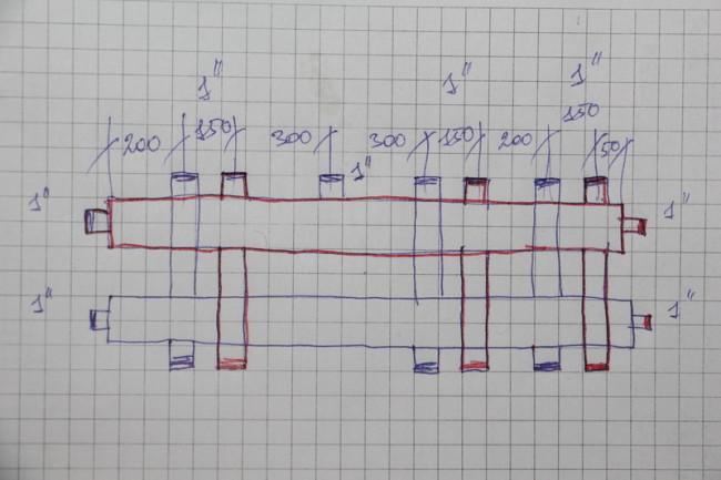 Расчёт гребенки отопления
