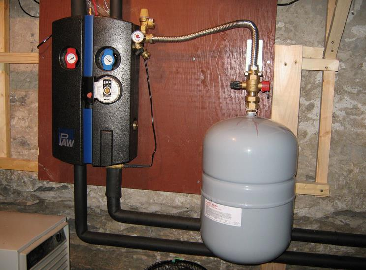 Установка расширительного бака в закрытой системе отопления