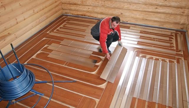 Как сделать теплый пол в деревянном доме своими руками 78